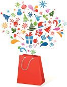 Shopping,Christmas,Bag,Sale,Retail,Store,Winter,Gift,Christmas Present,Holiday,Shopping Bag,Symbol,Business,Poster,Modern,Red,Decoration,Icon Set,Color Image,Vector,Christmas Decoration,Computer Graphic,Ilustration,Shopaholic,Buying,Package,Christmas Ornament,Season,Gift Tag,Digitally Generated Image,Design Element,Elegance,Multi Colored,Celebration,Design,Consumerism,Textured Effect,Clip Art,Painted Image,Christmas,Style,Holidays And Celebrations,Concepts And Ideas,Lifestyles,Bright,Vibrant Color,Celebration Event,Industry,Part Of,Fun,Retail/Service Industry,December