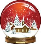 Snow Globe,Church,Christmas,Snow,House,Winter,Inside Of,Town,Toy,Isolated,Ilustration,Wood - Material,Christmas Tree,Star - Space,Shiny,Christmas,Sphere,Illustrations And Vector Art,Composition,Snowflake,Holidays And Celebrations,Vector,Star Shape,Snowing,Season,Glass - Material,Blue,Isolated On Blue