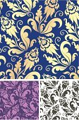 Pattern,Blue,Gold Colored,Textile,Floral Pattern,White,Multi Colored,Shape,Purple,Clip Art,Vector Ornaments,Vector Backgrounds,Elegance,Decoration,Image,Ornate,Design,Illustrations And Vector Art,Vector Florals,Wallpaper Pattern,Leaf,Vector,Computer Graphic,Curled Up,Ilustration,Backgrounds