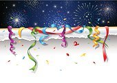 New Year's Eve,Celebration,Firework Display,Confetti,Party - Social Event,Backgrounds,Ribbon,Pyrotechnics,Paper,Star Shape,White Background,Holiday,Vector,Torn,Excitement,Exploding,Curled Up,Document,Wallpaper,Night,Streamer,Design,Design Element,Shiny,Vibrant Color,Cut Or Torn Paper,Part Of,Sheet,Holidays And Celebrations,Rolled Up,Page Curl,Fourth of July,Horizontal,Ilustration,Parties,Copy Space,New Year's,Multi Colored
