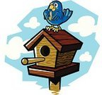 Birdhouse,Bluebird,House,Animal,Bird,Cartoon,Starling,Tree,Cute,Resting,Relaxation,Freedom,Vector Cartoons,Animals And Pets,Objects/Equipment,Happiness,Food,Blue Jay,Hungry,Ilustration,Wildlife,Hole,Wood - Material,Birds,Nature,Cheerful,Illustrations And Vector Art,Life,Animals In The Wild,Household Objects/Equipment