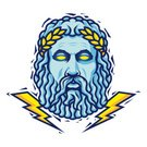 Zeus,Greek Culture,Vector,God,Lightning,Men,Beard,Greece,Storm,Thunderstorm,Mascot,Classical Greek,God,Titan,Heroes,Paganism,Power,Senior Adult,White Background,History,Athens - Greece,Ilustration,Speculative Being,Isolated,Classical God,Aggression,Linocut,Fuel and Power Generation,Remote,scape