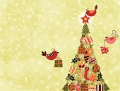 Christmas,Christmas Tree,Bird,Backgrounds,Holiday,Winter,Gift,Vector,Computer Graphic,Art,Abstract,Decoration,Sphere,Christmas Ornament,Snowflake,Ilustration,Christmas Decoration,Snow,Backdrop,Star Shape,Sock,Celebration,Christmas,Vector Backgrounds,Arts Backgrounds,Holidays And Celebrations,Arts And Entertainment,Illustrations And Vector Art