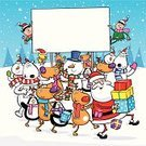 Christmas,Santa Claus,Cartoon,Humor,Elf,Snowman,Penguin,Animal,Sign,Banner,Reindeer,Polar Bear,Vector,Holiday,Assistance,Cute,Christmas Present,Cheerful,Gift,Placard,Characters,Bird,Funky,Holding,Robin,Rudolph The Red-nosed Reindeer,Friendship,Happiness,Computer Graphic,Clip Art,Blank,Togetherness,Ilustration,Design,Unity,Memorial Plaque,Envelope,Smiling,Santa Hat,Partnership,Celebration,Information Sign,Season,Copy Space,Multi Colored,Holiday Backgrounds,Holidays And Celebrations,Christmas,Toothless Smile