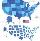USA,Map,World Map,Globe - Man Made Object,Vector,Earth,North America,Hawaii Islands,Alabama,Computer Graphic,Topography,New Mexico,Blue,Digitally Generated Image,North Dakota,Physical Geography,Ilustration,Clip Art,American Flag,Sea,Isolated On White,Pacific Ocean,Horizontal,Land,Atlantic Ocean
