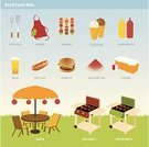 Barbecue,Barbecue Grill,Furniture,Symbol,Party - Social Event,Food,Apron,Heat - Temperature,Burger,Hamburger,Ice Cream,Outdoors,Kebab,Beer - Alcohol,Vector,Fourth of July,Ketchup,Ilustration,Watermelon,Mustard,Drink,Lunch,Condiment,Weekend Activities,Grass,Costume,Hot Dog,Icon Set,Kitchen Utensil,Celebration,Creativity,Color Image,Ideas,Paved Yard,Square,No People