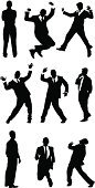 Dancing,Silhouette,Men,Jumping,Businessman,Running,Suit,Rear View,Cheerful,Business Person,Outline,Jogging,Ilustration,Side View,Male,Communication,Arms Outstretched,Excitement,Talking,Mobile Phone,On The Phone,Arms Raised,Standing,Holding,Formalwear,Urgency,Vector,Front View,Listening,Isolated,Speed,Arms Crossed,White Background,Black Color,Wireless Technology,Multiple Image,Celebration,Digitally Generated Image,Success,Isolated On White,Black And White,Achievement,On The Move,Vector Graphics,Clip Art,Gesturing,Computer Graphic,Mid-Air,Exhilaration