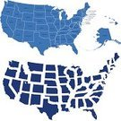 USA,Map,state,Outline,Vector,Design,Ilustration,Illustrations And Vector Art,Usa Map