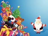 Toy,Christmas,Gift,Santa Claus,Train,Backgrounds,Christmas Decoration,Christmas Tree,Holiday,Men,Teddy Bear,Christmas Present,Vector,Computer Graphic,Senior Men,Gift Box,Rocket,Stuffed Toy,Caucasian Ethnicity,Large Group of Objects,Ribbon,Blue,Christmas,Illustrations And Vector Art,Copy Space,One Man Only,Toy Animal,Celebration,Isolated On Blue,Only Senior Men,Holidays And Celebrations,Red,Design,Christmas Ornament,One Senior Man Only,Only Men,Showing