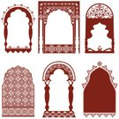 Indian Culture,Arch,Window,Frame,Henna Tattoo,Architecture,Pattern,Vector,Picture Frame,Design,Architectural Column,Middle Eastern Culture,Floral Pattern,Ornate,Design Element,Built Structure,Screen,Arc,Elegance,Ilustration,Intricacy,Outline,Collection,Illustrations And Vector Art,Vector Ornaments,No People,Arrangement,Large Group of Objects,Copy Space,Pen And Ink,Brown