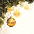 Christmas,Christmas Ornament,Christmas Card,Christmas Decoration,Greeting Card,Backgrounds,Gold Colored,Branch,Fir Tree,Holiday,White,Pine Tree,Hanging,Vector,Holiday Backgrounds,New Year's,Christmas,Holidays And Celebrations