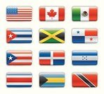 Flag,Trinidad,USA,Jamaica,Canada,Interface Icons,Dominican Republic,Puerto Rico,American Flag,Set,Eagle - Bird,Honduras,Vector,Shiny,North America,Central America,Coat Of Arms,Isolated Objects,Blue,Isolated,Color Image,Vector Icons,Shadow,Illustrations And Vector Art,Star Shape,Green Color,Bahamas,Costa Rica,Mexico,Panama,Red,Cuba,Ilustration