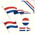 Dutch Culture,Dutch Flag,Netherlands,Pennant,Ribbon,White,Tricolor,Striped,Blue,Red,Symbol,Design Element,Sphere,Illustrations And Vector Art,Isolated Objects,Set,Travel Locations,Computer Icon,Vector,Ilustration,National Flag
