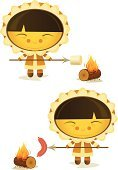 Marshmallow,People,Cartoon,Cooking,Vector,Campfire,Ilustration,Eating,Sausage,Fire - Natural Phenomenon,Inuit,Happiness,Cheerful,Group of Objects,Food,Characters,Log,Hot Dog,Men,Isolated On White,Set,People,Meat,Standing,Food And Drink,Cooking,Illustrations And Vector Art,Vector Cartoons,Flame,Smiling