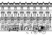 Paris - France,Architecture,Carriage,Built Structure,France,Facade,French Culture,Old,Arch,Old-fashioned,Drawing - Art Product,City,Pencil Drawing,Vector,History,Ilustration,Silhouette,Retro Revival,Drawing - Activity,Classical Style,Europe,Decoration,Monument,Classic,1900,Backgrounds,Car,Urban Scene,Famous Place,People,Umbrella,Painted Image,City Life,Art,Transportation,Architecture And Buildings,Travel Destinations,Capital Cities,Illustrations And Vector Art