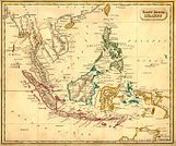 Map,Indonesia,Cartography,Asia,Old,Singapore,Southeast Asia,Old-fashioned,Malaysia,Philippines,Antique,Papua New Guinea,Island of Borneo,Obsolete,Sea,Cambodia,Archipelago,Pacific Ocean,Indian Ocean,Indochina,History,Asia Pac,Brunei,Chart,East Timor,Singapore City,The Past,Australasia,Oceania,China Sea,Natural Phenomenon,Objects/Equipment,Styles,Geographical Locations,Image Created 19th Century,Major Ocean,Victorian Style,Land,Image Created 1830-1839,Land Feature,Image Date,19th Century Style,Travel Locations,Navigational Equipment