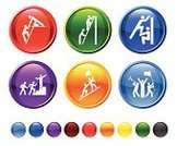 Training Class,Conquering Adversity,Obstacle Course,Computer Icon,Leadership,Icon Set,Climbing,Teamwork,Steps,Circle,Assistance,Wall,Moving Up,Above,Army,Success,Team,Ilustration,Winning,Victory,Red,Blue,Green Color,Design,Empty,Black Color,Isolated On White,White Background,Orange Color,Vector,No People,Modern,Digitally Generated Image,Flag,Leading,Yellow