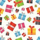 Gift,Box - Container,Gift Box,Christmas,Backgrounds,Seamless,Pattern,Ilustration,Ribbon,Color Image,Vector,seamless pattern,Design