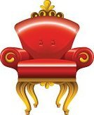Throne,Chair,Furniture,Victorian Style,Armchair,Elegance,Luxury,Leather,Antique,Obsolete,Seat,Yellow,Old-fashioned,Isolated,Comfortable,Retro Revival,Painted Image,Architectural Revivalism,No People,Wood - Material,Vector,Single Object,Ilustration,Lifestyle,Illustrations And Vector Art,Isolated On White,Classic,Red