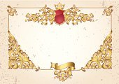 Frame,Copy Space,Luxury,Victorian Style,Gold Colored,Crown,Insignia,Banner,Ornate,Elegance,Ribbon,Rectangle,Angle,Scroll Shape,Placard,Decoration,Backgrounds,Retro Revival,Decor,filigree,Blank,Paper,Abstract,Classical Style,Clip Art,Vignette,Baroque Style,Curled Up,Vector Backgrounds,Arts Backgrounds,Illustrations And Vector Art,Bronze,Old-fashioned,Design,Vector,flourishes,Vector Ornaments,Engraved Image,Funky,Swirl,Arts And Entertainment
