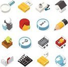 Icon Set,Symbol,Computer Icon,Isometric,Three-dimensional Shape,Internet,Finance,House,Camera - Photographic Equipment,E-Mail,Pencil,Mailbox,Pie Chart,Shopping Cart,Magnifying Glass,Mailbox,Globe - Man Made Object,Communication,Vector,www,Padlock,Mail,Color Image,Elegance,Multi Colored,Digital Camera,Film Slate,Business,Sign,Ilustration,Modern,Design,Smooth,Downloading,White Background