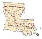 Louisiana,Map,Cartography,Road Map,Interstate,USA,Vector,Multiple Lane Highway,Transportation,Ilustration,Mode of Transport,Representing,Color Image,Fine Art Portrait,White Background,Ideas,Highway Map,Travel Locations,Sports And Fitness,Illustrations And Vector Art,Interstate Map,Close-up
