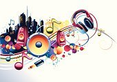 Music,Entertainment,Speaker,Headphones,Urban Scene,Sound,Vector,City,1980s Style,Design,Musical Note,Abstract,Spray,Record,Audio Equipment,Splashing,Multi Colored,Youth Culture,Modern,Sparse,Sound Wave,Building Exterior,Sound Recording Equipment,Ilustration,Spotted,Stereo,Funky,Copy Space,Cool,Illustrations And Vector Art,Interconnect,Arts And Entertainment,Vector Cartoons,Blue,Shiny,Music