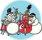 Jazz,Christmas,Music,Snowman,Winter,Snow,Drum,Musical Band,Sunglasses,Pipe,Cold - Termperature,Vector Cartoons,Cool,Bass Guitar,Corncob Pipe,Christmas,Music,Holidays And Celebrations,Arts And Entertainment,Illustrations And Vector Art