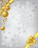 Christmas,Gold Colored,Frame,Silver Colored,New Year's Day,Backgrounds,Ribbon,Holiday,Winter,Snowflake,Bell,Banner,Vector,Placard,Classic,Decoration,Vibrant Color,Holidays And Celebrations,Christmas,New Year's,Traditional Festival,Single Object,Ilustration,Greeting,Bright,Holiday Backgrounds,Greeting Card
