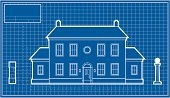 Mansion,House,Blueprint,Roof,Vector,Architecture,Window,Diagram,Street Light,Ilustration,Door,Grid,Chimney