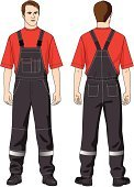 Men,Coveralls,Protective Workwear,Pants,Working,Standing,Human Face,Clothing,Suit,Male,People,Sports Uniform,Vector,Boot,Black Color,T-Shirt,Sign,Ilustration,Human Hair,Human Eye,Human Mouth,Heat - Temperature,Human Ear,Colors,Button,People,Adult,Red,Pattern,Service,Pocket,Sleeve,Transparent