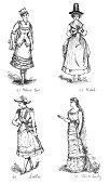 Old,Image,Styles,Clothing,Elegance,Formalwear,Garment,The Past,History,Dress,Vertical,Victorian Style,Europe,Costume,Human Role,UK,Wales,Old,Old-fashioned,Cultures,British Culture,Welsh Culture,Traditional Clothing,Period Costume,Beauty,Adult,Young Adult,Illustration Technique,Art And Craft,Art,Skirt,Illustration,Woodcut,Engraved Image,Antique,Females,Women,Young Women,Fashion Model,Photography,Historical Clothing,Dressing Up,Fashion,European Culture,Print,Human Gender,Illustrations And Vector Art