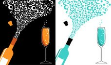Champagne,Wine,Bubble,Wedding,Soda,New Year's Eve,Wine Bottle,Vector,Anniversary,Exploding,Cork,Celebration,Birthday,Symbol,Party - Social Event,Ilustration,Circle,Glass,Turquoise,Sparse,New Year's Day,Success,White,Opening,Computer Graphic,Celebration Event,Black Color,Fun,Orange Color,Holidays And Celebrations,Birthdays,New Years Party,Parties,New Year,vector illustration