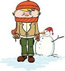 Beanie Hat,Carrot,Pants,Scarf,Glove,Headscarf,Snowman,Jacket,Illustrations And Vector Art,Holidays And Celebrations,Snow,Cold - Termperature,Human Eye,Christmas,Snowball,Young Men,Clown's Nose,Winter,Nature,Winter,Vector Cartoons,Coat,Boot,Human Hair,Branch,Coal,Human Ear