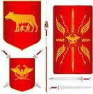 Roman,Rome - Italy,Eagle - Bird,Flag,Banner,Wolf,War,Old,Symbol,Empire,Ancient Rome,Antique,Ancient,Nobility,Armed Forces,Ancient Civilization,Weapon,Crown,Insignia,Diplomacy,Success,History,Sign,Conflict,Power,Concepts And Ideas,Illustrations And Vector Art,Antiquities,Classic