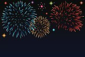 Firework Display,New Year's Eve,Backgrounds,Blue,Red,Fourth of July,New Year,Celebration,White,Sky,Ilustration,Happiness,Vector,Party - Social Event,Night,Star Shape,Clip Art,Event,Traditional Festival,Vector Backgrounds,Illustrations And Vector Art,Bright,Variation,Multi Colored,Black Color,Joy,Entertainment,Holiday,Design,Dark,Colors