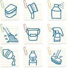 Cleaning,Symbol,Clean,Icon Set,Brushing,Bucket,Mop,Domestic Life,Broom,Vector,Pouring,Toilet Brush,Spray,Adhesive Note,Equipment,Spraying,Cleaning Brush,Household Objects/Equipment,Objects/Equipment,Ilustration,Bleach,Paper Clip,Illustrations And Vector Art