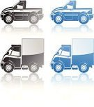 Semi-Truck,Car,Wheel,Computer Icon,Small,Image,Truck,Pick-up Truck,Vector,Freight Transportation,Motor Vehicle,Cargo Transport,Illustrations And Vector Art,Ilustration,Land Vehicle,Isolated On White,Transportation,Cargo Container,Symbol,Blue,Railroad Car