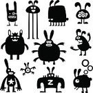 Monster,Symbol,Doodle,Manga Style,Easter,Development,Humor,Laughing,Collection,Ink,Ilustration,Computer Graphic,Abstract,Paint,Variation,Fantasy,Wildlife,Dark,Pets,Simplicity,Caricature,Vector,Creativity,Series,Image,Mammal,Animal Backgrounds,Animals And Pets,Illustrations And Vector Art,Vector Cartoons,Nature