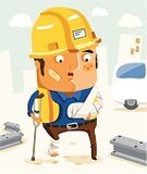 Physical Injury,Working,Accident,Occupation,Manual Worker,Construction Industry,Safety,Construction Worker,Insurance,People,Crutch,Employment Issues,Engineer,Ambulance,Ilustration,Vector,Job - Religious Figure,Violence,Freight Transportation,Industry,Illustrations And Vector Art,Construction