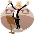 Musical Conductor,Music,Opera,Cartoon,Classical Music,Senior Adult,Tuxedo,bandmaster,Ilustration,Men,Vector,Classical Concert,Conductor's Baton,Musical Theater,Inside Of,Fun,Entrance Hall,Theatrical Performance,Adult,Leadership,Performer,Humor,Small,Male,Play,Short Stature,Adults,Lifestyle,Music,Arts And Entertainment,Performance,Illustrations And Vector Art,Performing Arts Event,Short Hair,Playing,vector illustration,handcarves,Clip Art