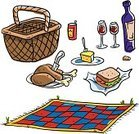 Picnic,Picnic Basket,Basket,Picnic Blanket,Vector,Food,Ilustration,Chicken,Sandwich,Lunch,Wine,Wine Bottle,Outdoors,Blanket,No People,Isolated On White
