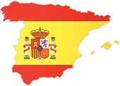 Spain,Map,Flag,Cartography,Spanish Flag,Vector,Outline,World Map,Isolated On White,Europe,National Flag,Color Image,Ilustration,No People