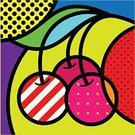 Art,Pop Art,Fruit,Painted Image,Cafe,Ilustration,Cherry,Diner,Striped,Fashion,Dinner,Breakfast,Set,Napkin,Outline,Vector,Juicy,Single Line,Ornate,Multi Colored,Modern,New,Pink Color,Arts And Entertainment,Food And Drink,Elegance,Style,Vector Ornaments,White,Fruits And Vegetables,Brandy,Visual Art,Gourmet,Illustrations And Vector Art,Brandy,Pointing,Leaf,Lunch