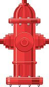 Fire Hydrant,Fire - Natural Phenomenon,Firefighter,Ilustration,Vector,Smoke Jumper,Equipment,Work Tool,Emergency Services,Red,Objects/Equipment,Isolated Objects,Johnny Pump,Water,Illustrations And Vector Art