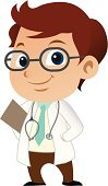 Doctor,Cartoon,Child,Cute,Little Boys,Vector,Occupation,Paramedic,Small,Men,Characters,Healthcare And Medicine,Male,Ilustration,Stethoscope,Uniform,Job - Religious Figure,Health Care,Industry,People,Illustrations And Vector Art,Vector Cartoons
