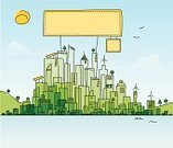 City,Urban Scene,Environment,Built Structure,Doodle,House,Building Exterior,Sign,Drawing - Art Product,City Life,Sketch,Green Color,Nature,Cartoon,Architecture,Social Issues,Residential Structure,Environmental Conservation,Cityscape,Design,Sun,Line Art,Travel,Billboard,Urban Skyline,Horizon,Ilustration,Water,Alternative Energy,Skyscraper,Wind Turbine,Solar Energy,Travel Destinations,Eco Tourism,Simplicity,Day,Tranquil Scene,Crowded,Tourism,No People,Downtown District,Architecture Abstract,Architecture And Buildings,Office Building,Style,Concepts And Ideas,Illustrations And Vector Art,Modern Life