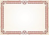 Certificate,Diploma,Frame,Picture Frame,Retro Revival,Old-fashioned,Old,Pattern,Document,Antique,Art,Victorian Style,Design,Painted Image,Vector,Decoration,Classic,Elegance,Ilustration,Illustrations And Vector Art,graphic element,Arts And Entertainment,Arts Backgrounds,Vector Backgrounds,Copy Space,Part Of
