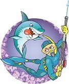Diving,spearfishing,Shark,Animal Fin,Gun,Diving Flipper,Fish,Swimming,Underwater,Animal,Sports And Fitness,Individual Sports,Large,Water,Sea,Catch of Fish,Suit,People,Water,Harpoon,Vector,Protective Mask - Workwear,Ilustration,Catching