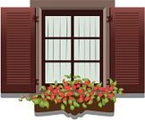 Window,Shutter,Wood - Material,Flower,Curtain,House,Open,Shade,Timber,jardiniere,Springtime,Front View,discontinuity,Brown,Concepts And Ideas,Nature,Dividing,Apse,scuttle,rupture,Architecture And Buildings,Square,No People,cleft,interstice,Time,Decoration,Summer,Aperture,Flowers,cranny,White Background